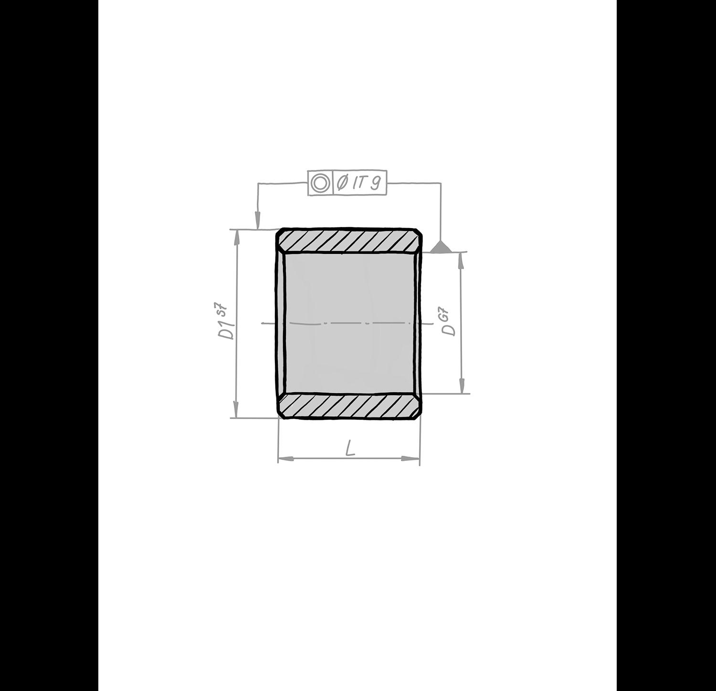 Gleitlager zylindrisch aus Sinterbronze
