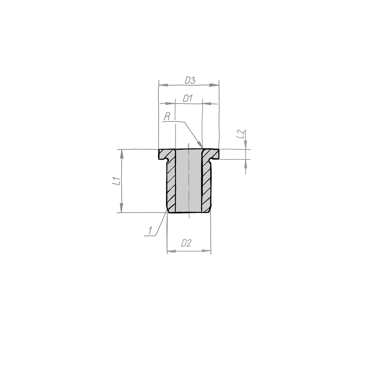 Bundbohrbuchse DIN 172, Form B, an einem Ende gerundet