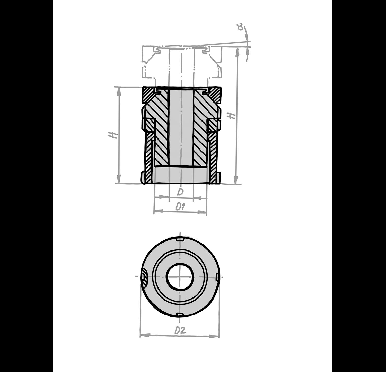 Kugel-Ausgleichsscheibe und Kontermutter KVSK